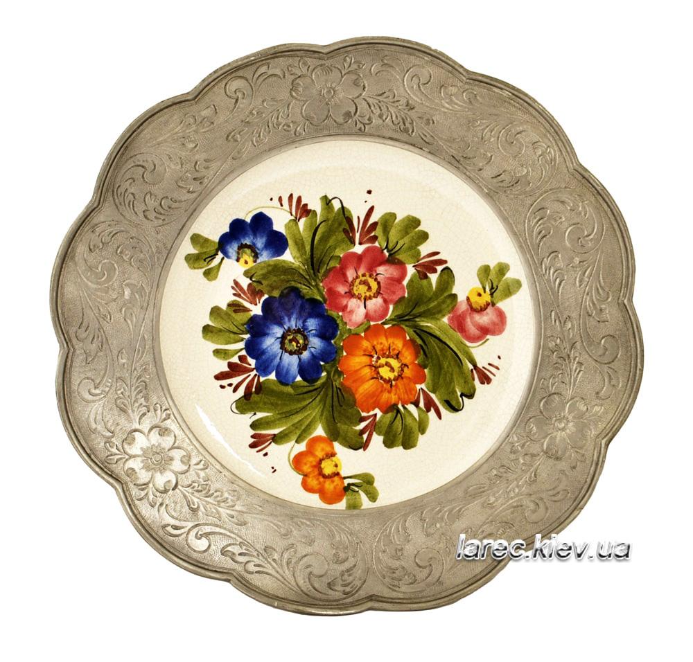 Подарок Настенная тарелка панно Цветы