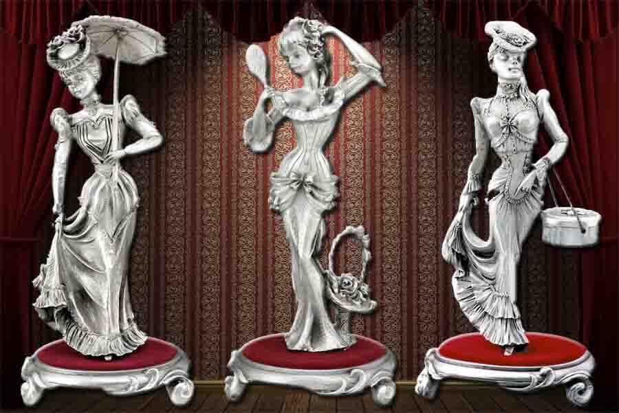 Фото категории Оловянные статуэтки и настенные панно для женщин
