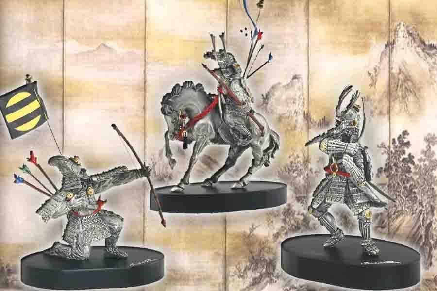 Фото категории Оловянные статуэтки фигурки Самураи