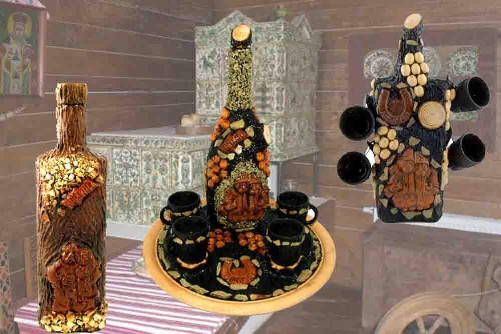 Фото категории Украинские подарочные декоративные бутылки