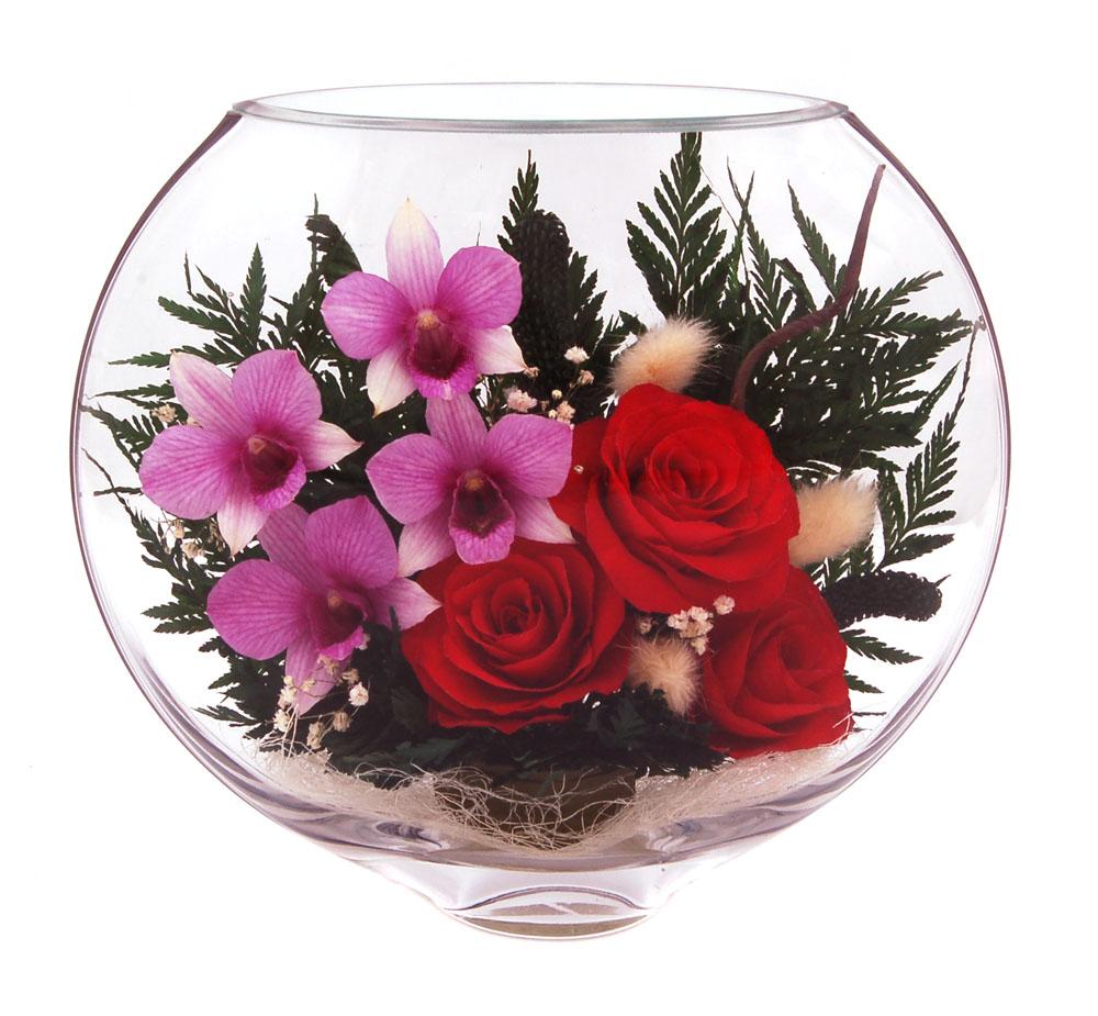 Живые цветы в вакууме своими руками