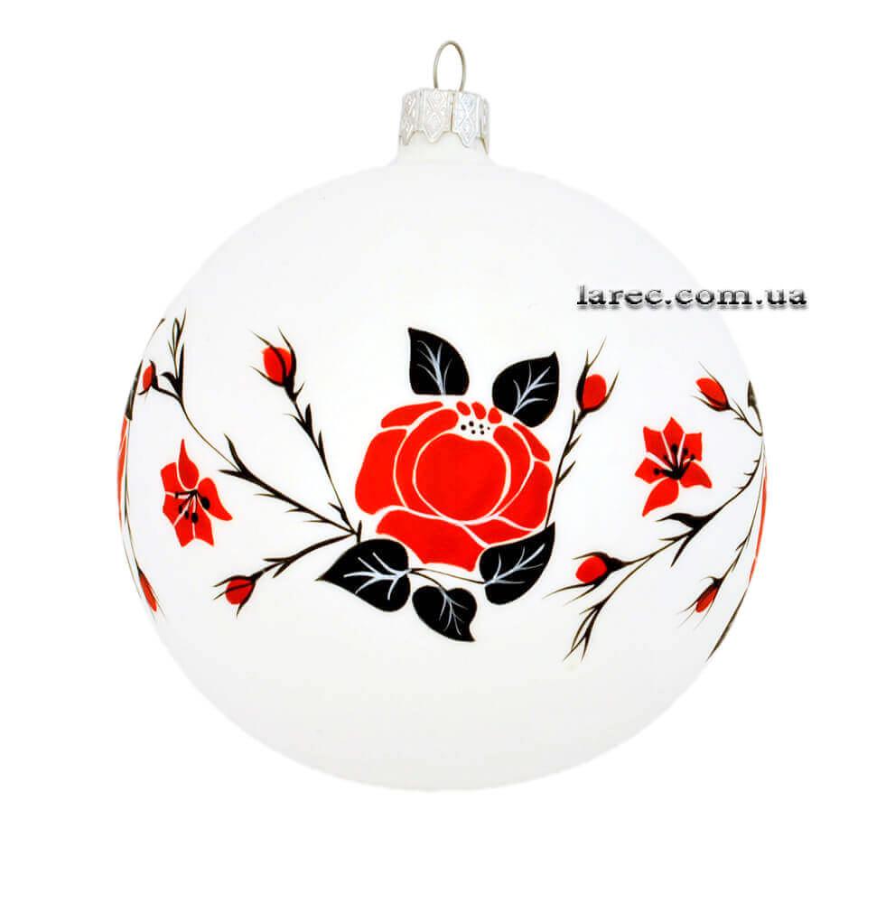 Подарок Эксклюзивный елочный шар украинский стиль
